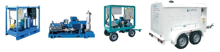 Приклади виконання гідроструминних модулів Hughes pump